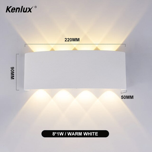 LED Wall Lamp Motion Sensor Light Fixture Indoor Wall Sconce Minimalist Stair Bedroom Bedside Living Room Home Hallway Lighting