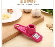 1pcs Stainless Steel Garlic Press Manual Garlic Mincer Chopping Garlic Tools Curve Fruit Vegetable Tools Kitchen Gadgets