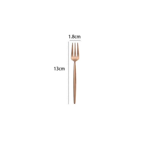 Steel Cutlery Set Rose Gold Spoon Forks Dessert Butter Knives Spoons Chopsticks Kitchen Spoon Fork Knife Set Western Dinnerware