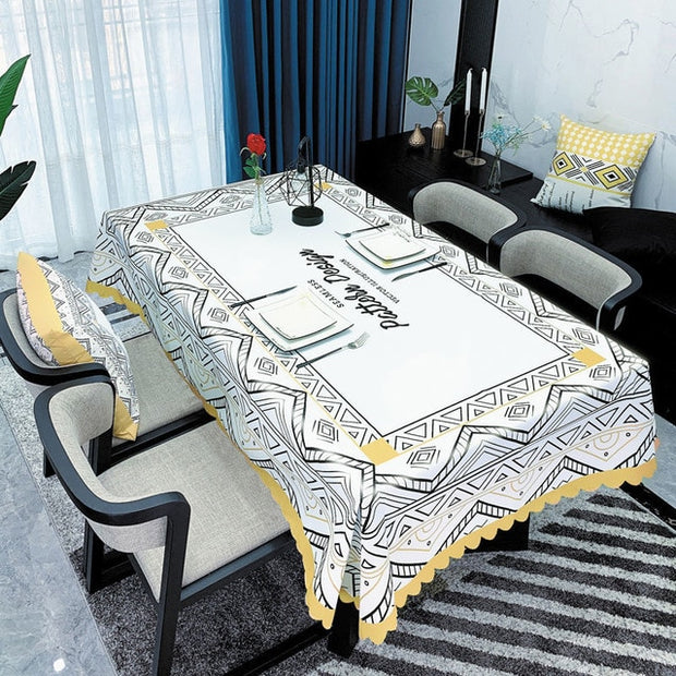 Waterproof Tablecloth Wedding Birthday Party Tablecloth Rectangular Tablecloth Table Covers Home Dining Tea Table Decoration