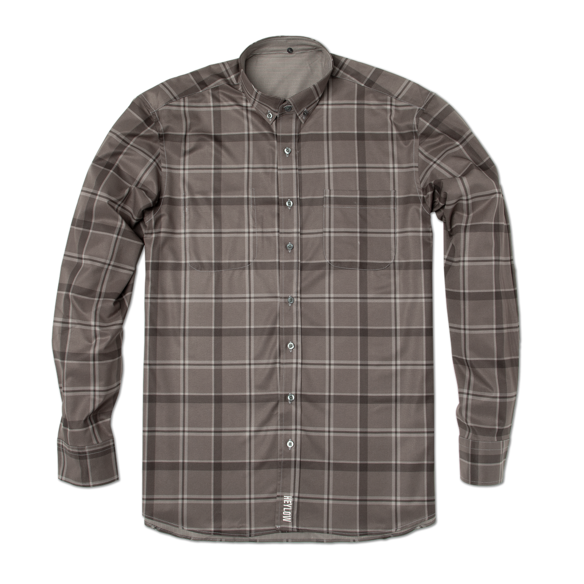 Out of Office Button Down: Charcoal Plaid