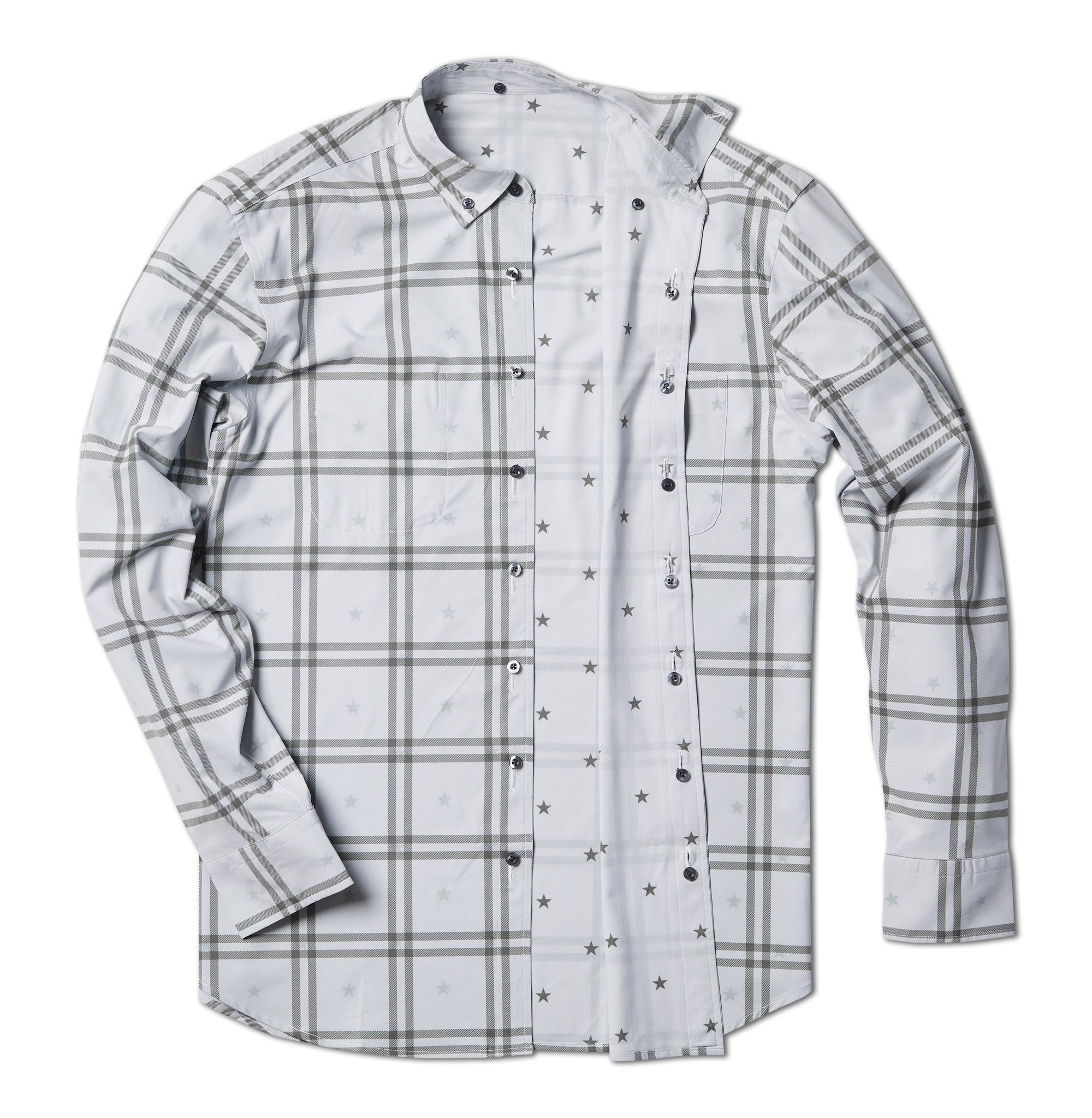 Out of Office Button Down: Gainsboro Cross
