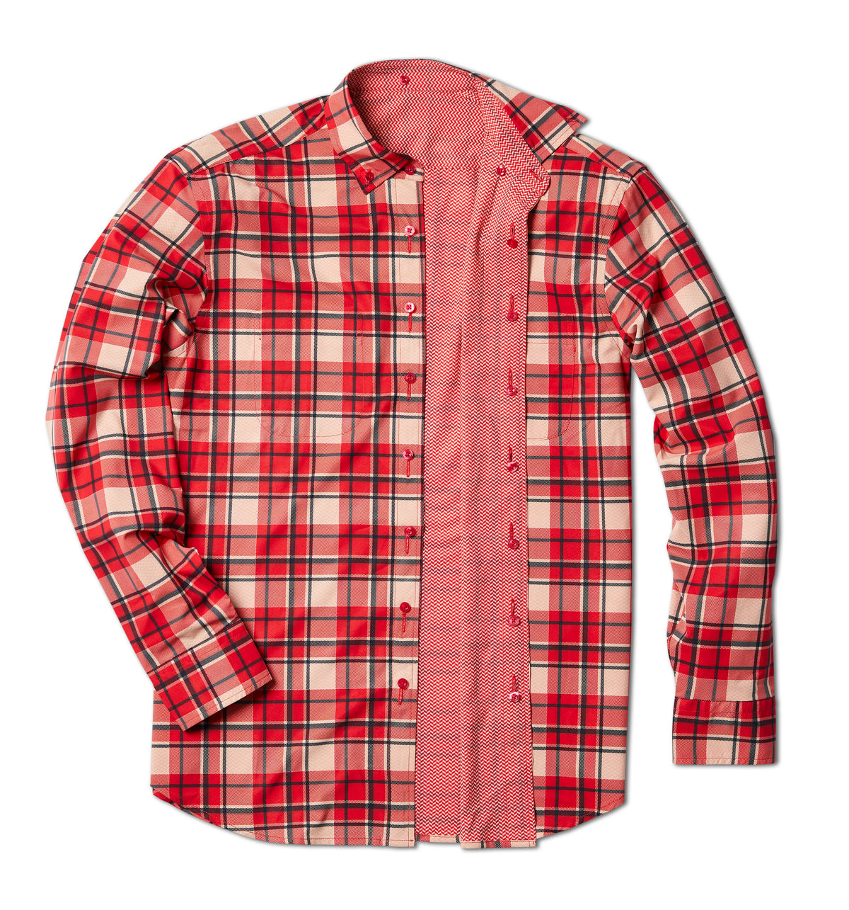 Out of Office Button Down: Red Rocks Plaid