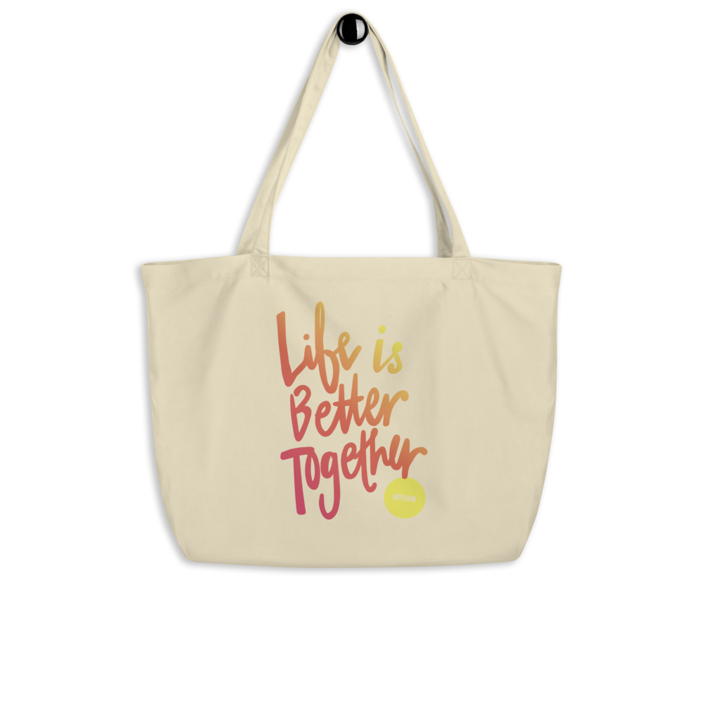 Large Life's Better Sunset Tote