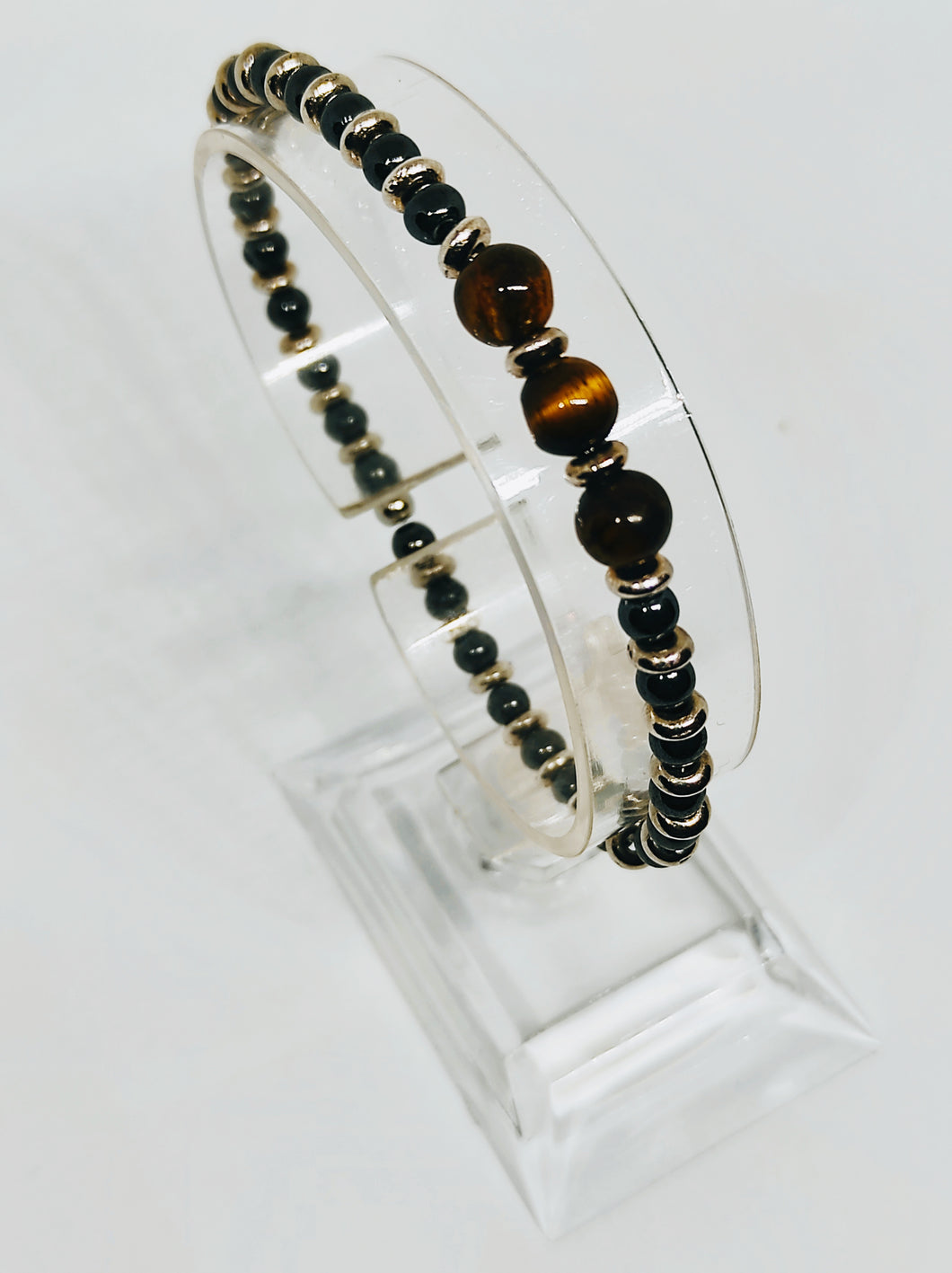 Tiger's eye and Hematite