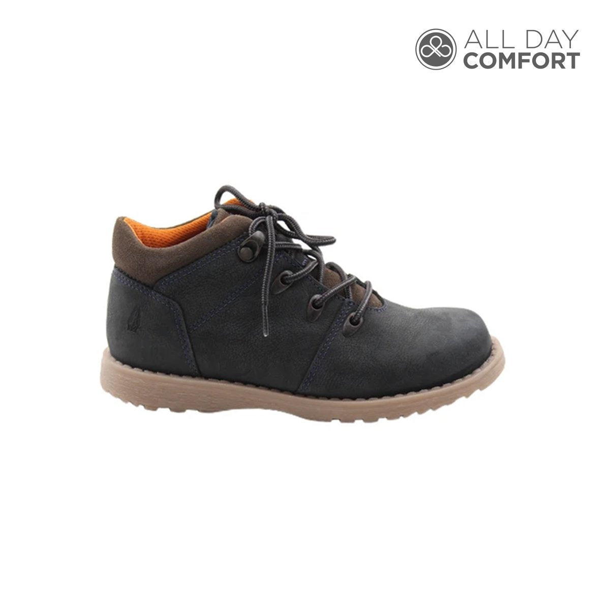bota andy 2.0 - color navy, 49.99, all day comfort, azul, calzado, cuero, temporada 5, hush puppies, navy, ninos, nií'o, precio regular, comprar, en linea, online, delivery, el salvador, zapatos, hush puppies
