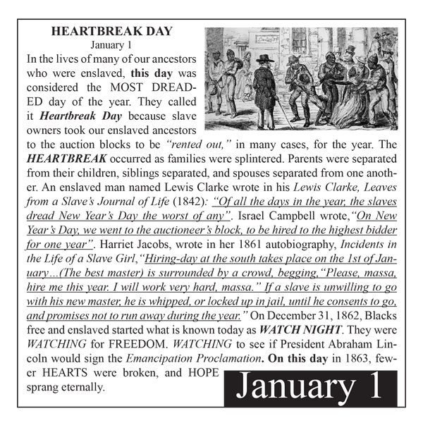 Black Heritage Day IV Desktop Calendar - FREE Shipping