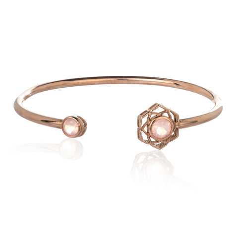 The Rose Gold Flower Of Life Cuff