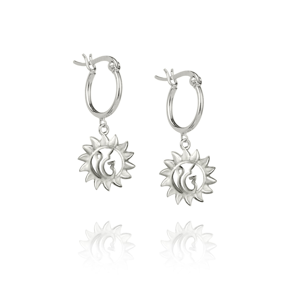 Silver Suraj Earrings