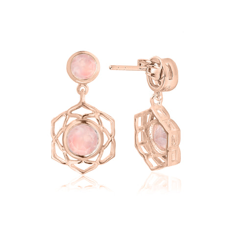The Rose Gold Flower of Life Earrings