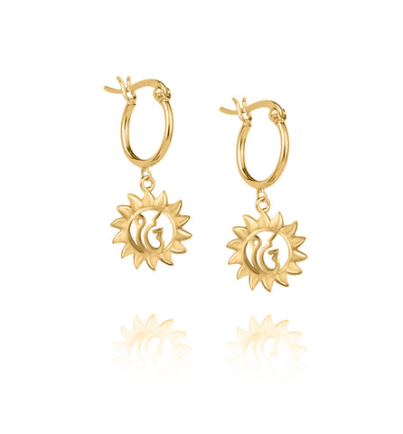 Gold Suraj Earrings