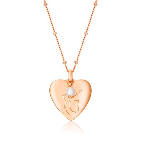 Heart of Rose Gold Necklace
