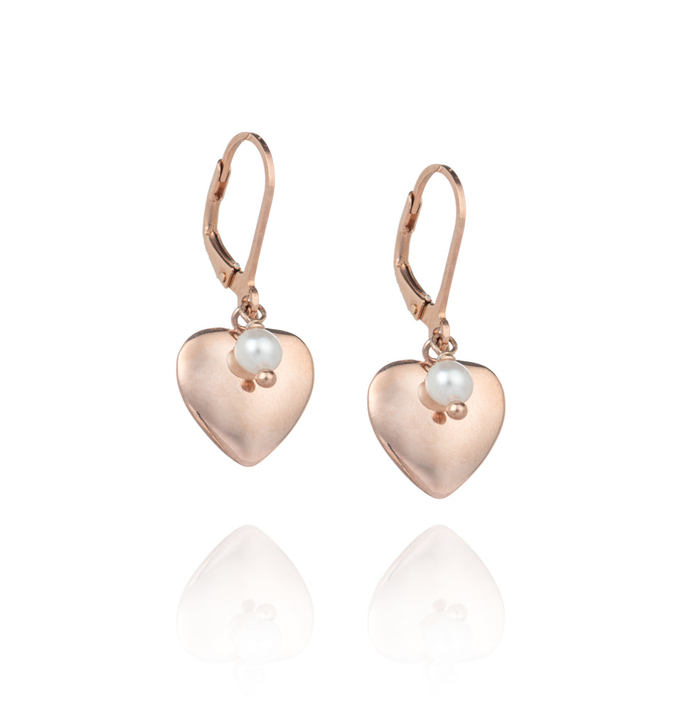 Heart of Rose Gold Earrings