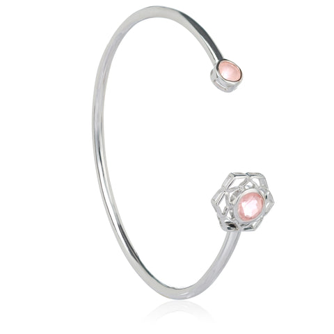 Silver Flower of Life Cuff