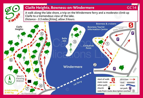 Claife Heights, Bowness-on-Windermere  walk - Cardtoons Publications