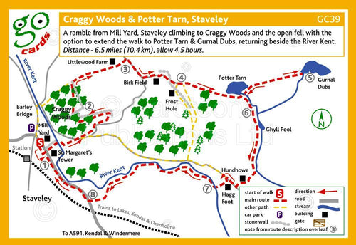 Craggy Woods & Potter Tarn, Staveley walk - Cardtoons Publications