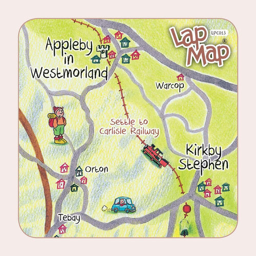 Appleby lap map coaster - Cardtoons Publications