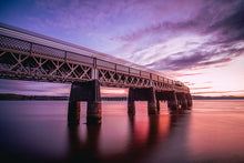 Load image into Gallery viewer, Winter Sunset at the Tay Rail Bridge