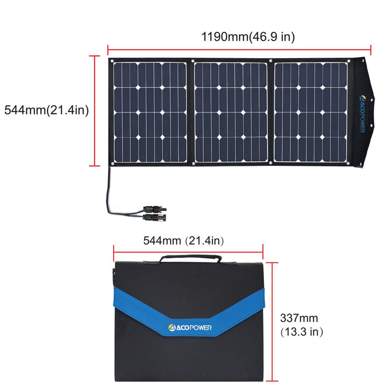 ACOPOWER LTK 90W Foldable Solar Panel Suitcase