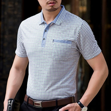 Thoshine Brand Men Summer Polo shirt Smart Causal Collar