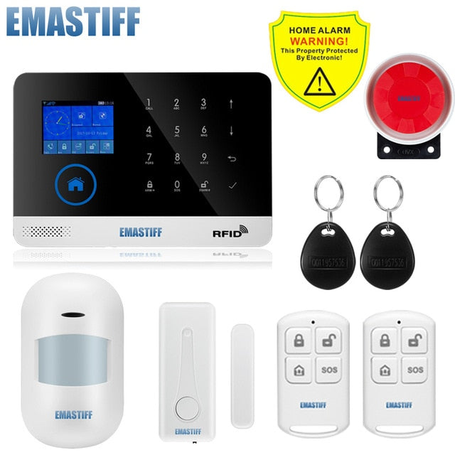 Wireless SIM GSM Home RFID Burglar Security LCD Touch Keyboard Alarm System