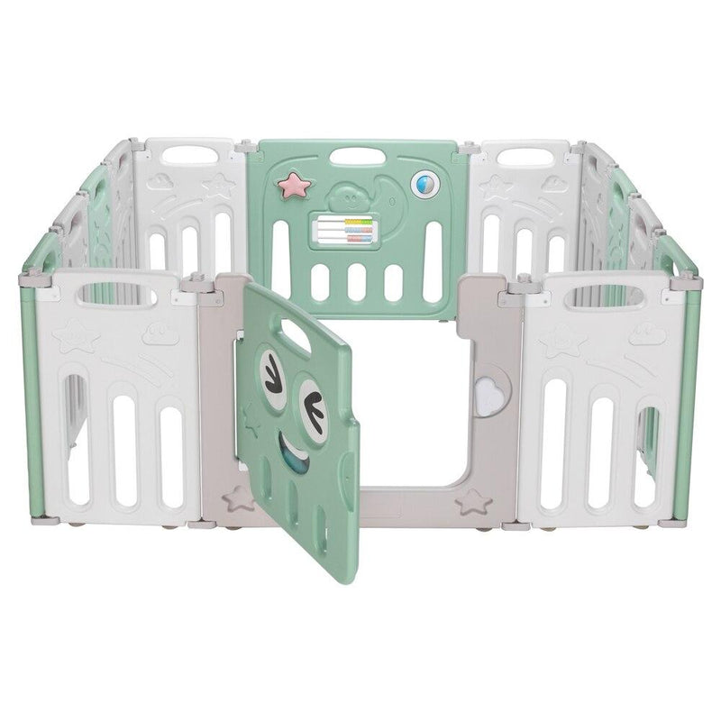 Fordable Baby 14 Panel Playpen Activity Safety Play Yard Foldable