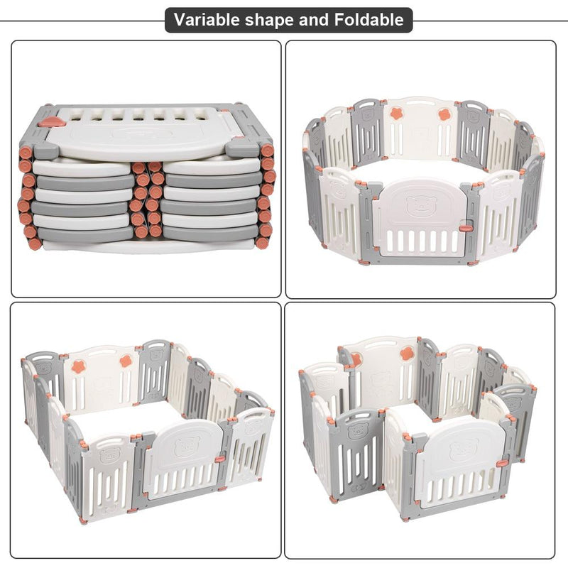 Baby Folding playpen Kids Activity Centre Safety Play Yard Home Indoor