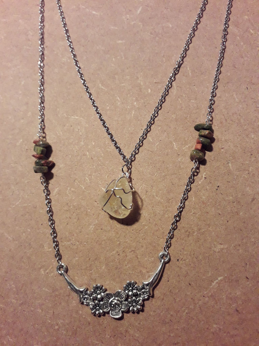 Layered Stone Necklaces