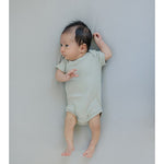 ORGANIC COTTON SHORT SLEEVE RIBBED BODYSUIT