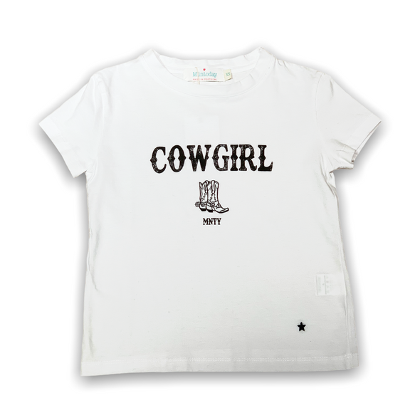Camiseta Cowgirl boots Blanca