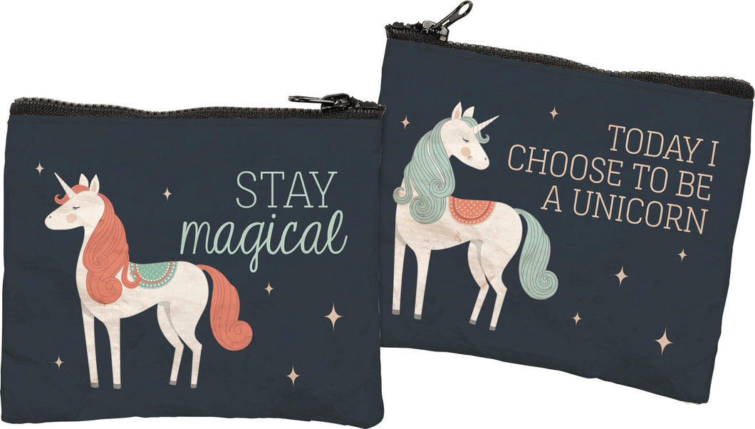 Zipper Wallet - Today I Choose To Be A Unicorn