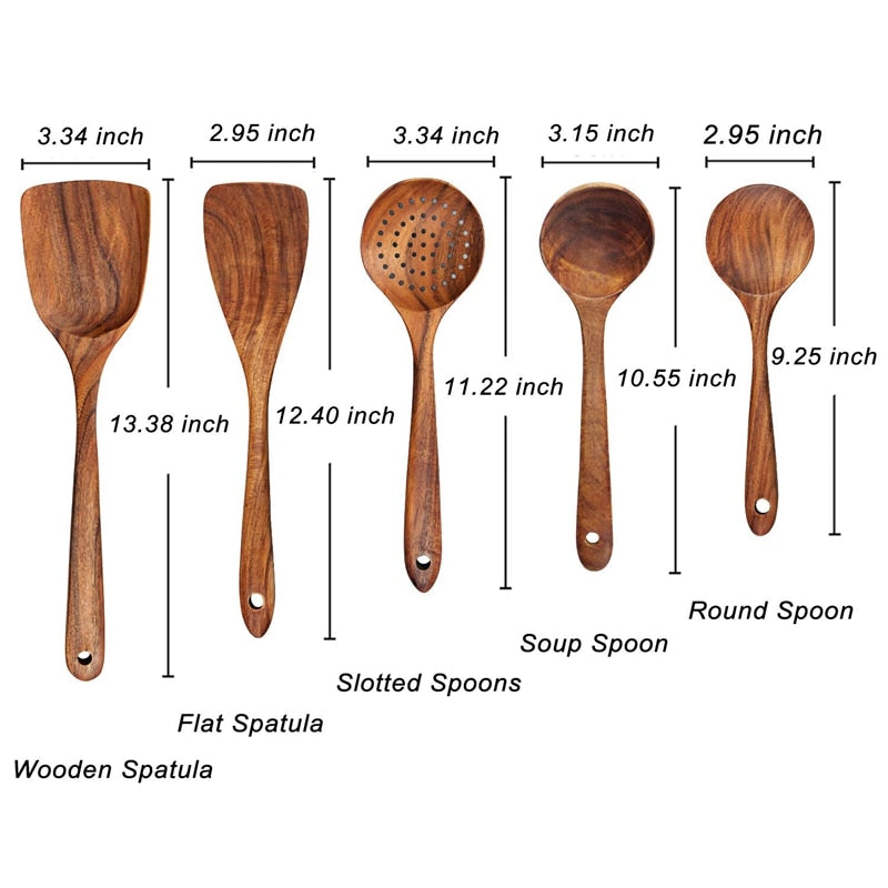 YEK NATURAL WOOD COOKING SKIMMER KIT
