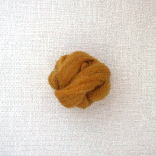 Fibre Merino 23 microns couleur Butter Scotch