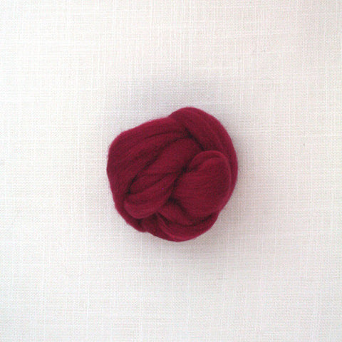 Fibre Merino 23 microns couleur Cherry Red