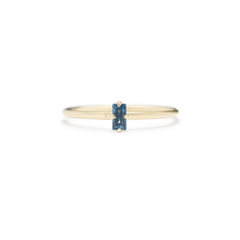 Load image into Gallery viewer, Sapphire Baguette Ring