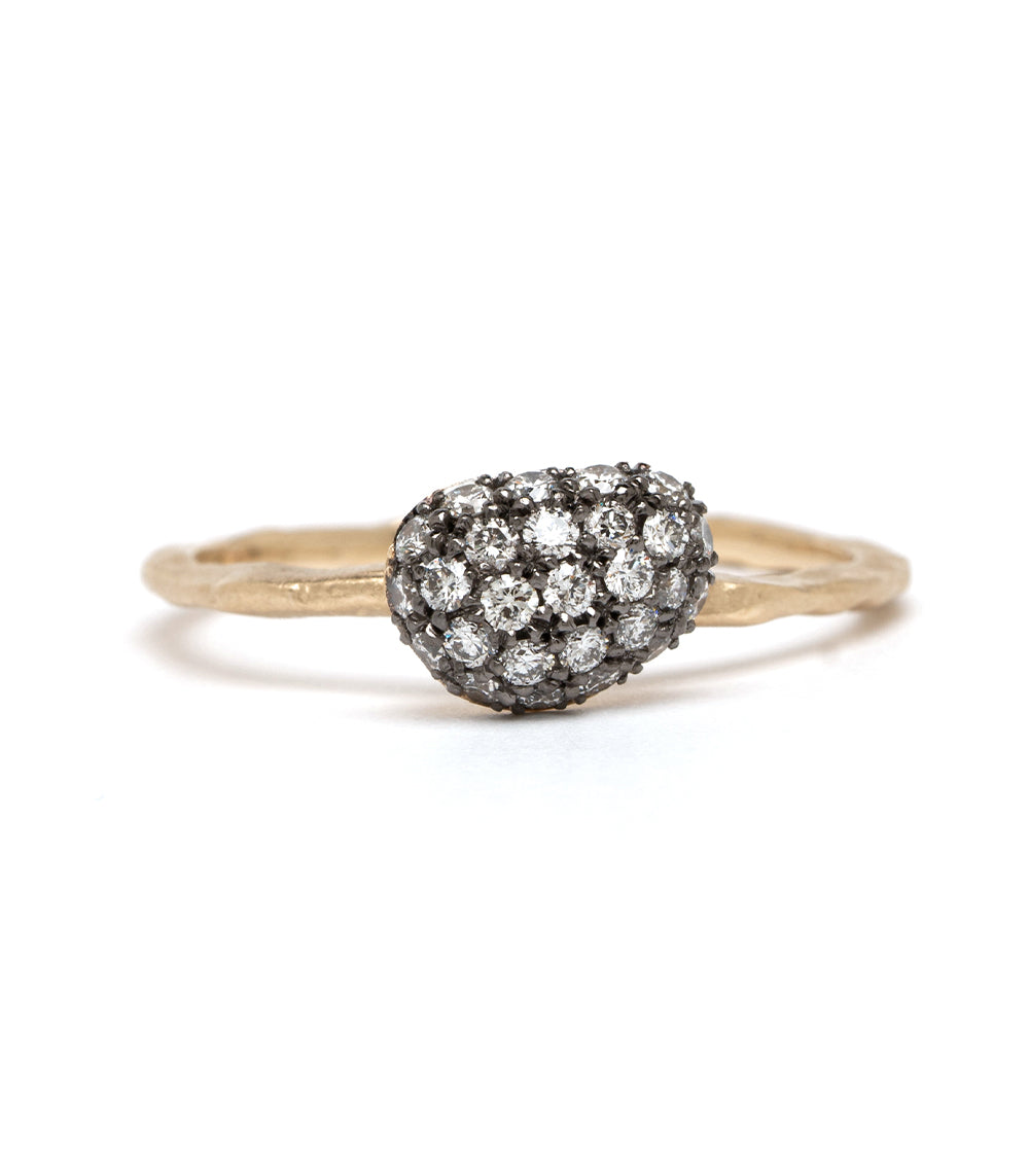 Diamond Pebble Stacking Ring
