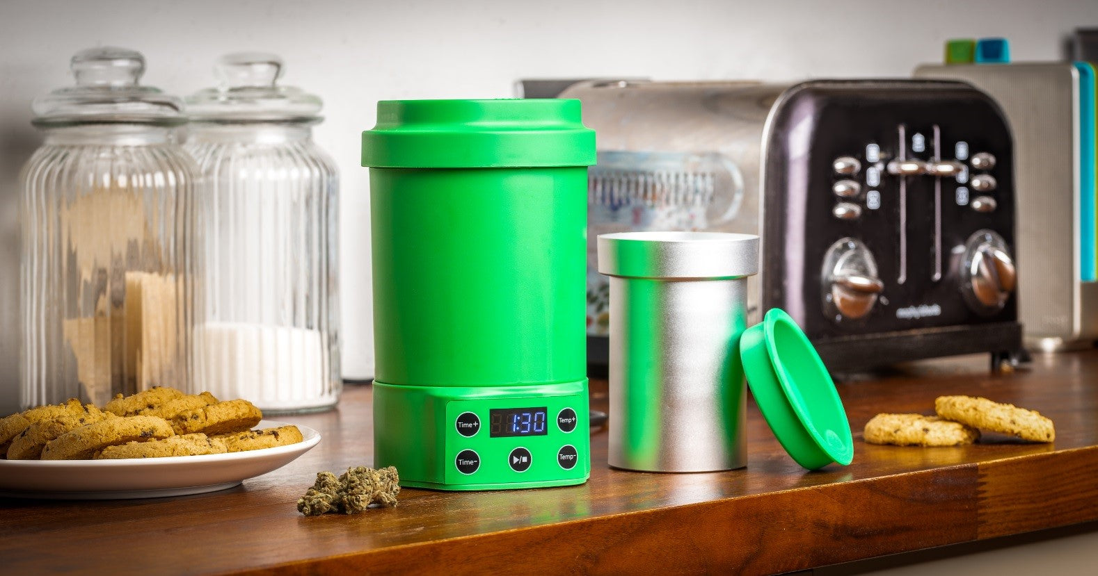 Nebula Boost Decarboxylator & Infuser machine for Botanicals, Herb, Oils, Oral, Sublingual and Topical Use. Increases potency and purity to help improve the strength, taste, quality and overall effectiveness of your botanicals.