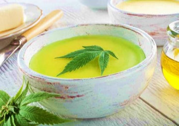 Infuse decarb botanical with butter