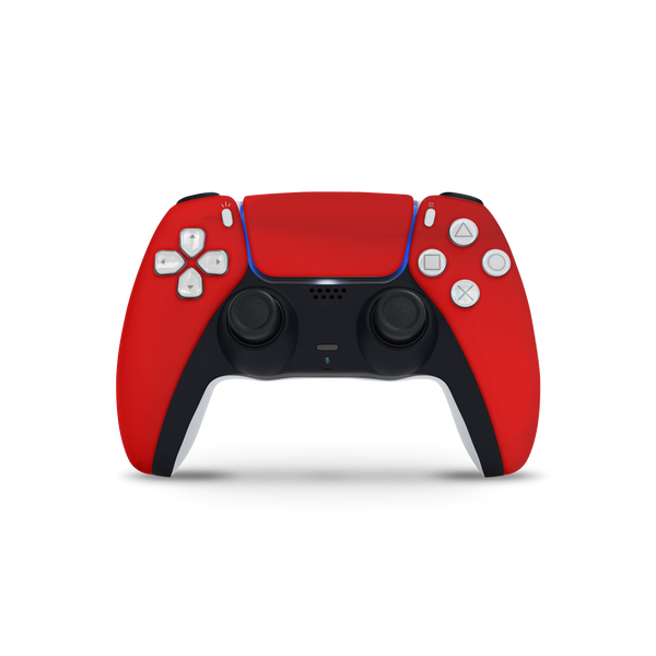 Custom Fury Red PS5 DualSense Controller Skin