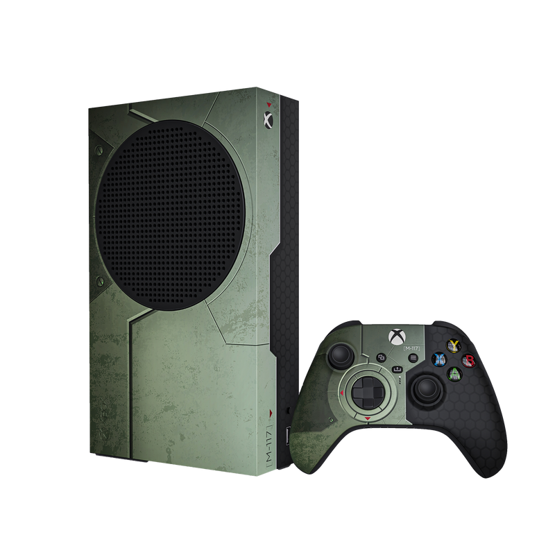 The Chief Xbox Series S Console & Controller Skin Bundle by XboxPope