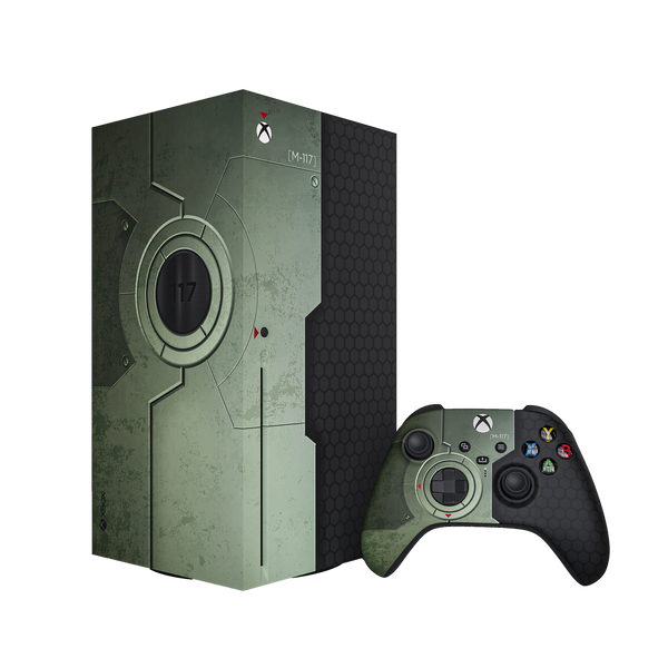 The Chief Xbox Series X Console & Controller Skin Bundle by XboxPope