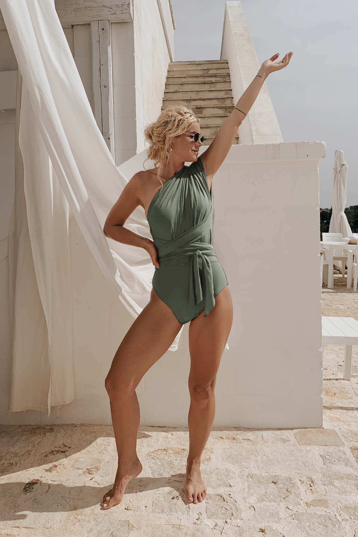 Sustainable Swimsuit Olive Grove