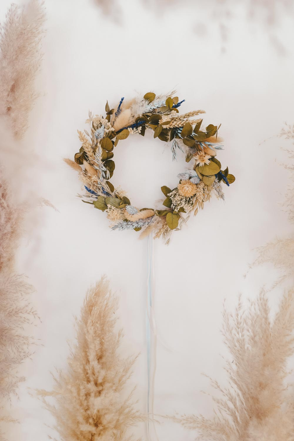 Handmade Dried Flower Hoop Brienne