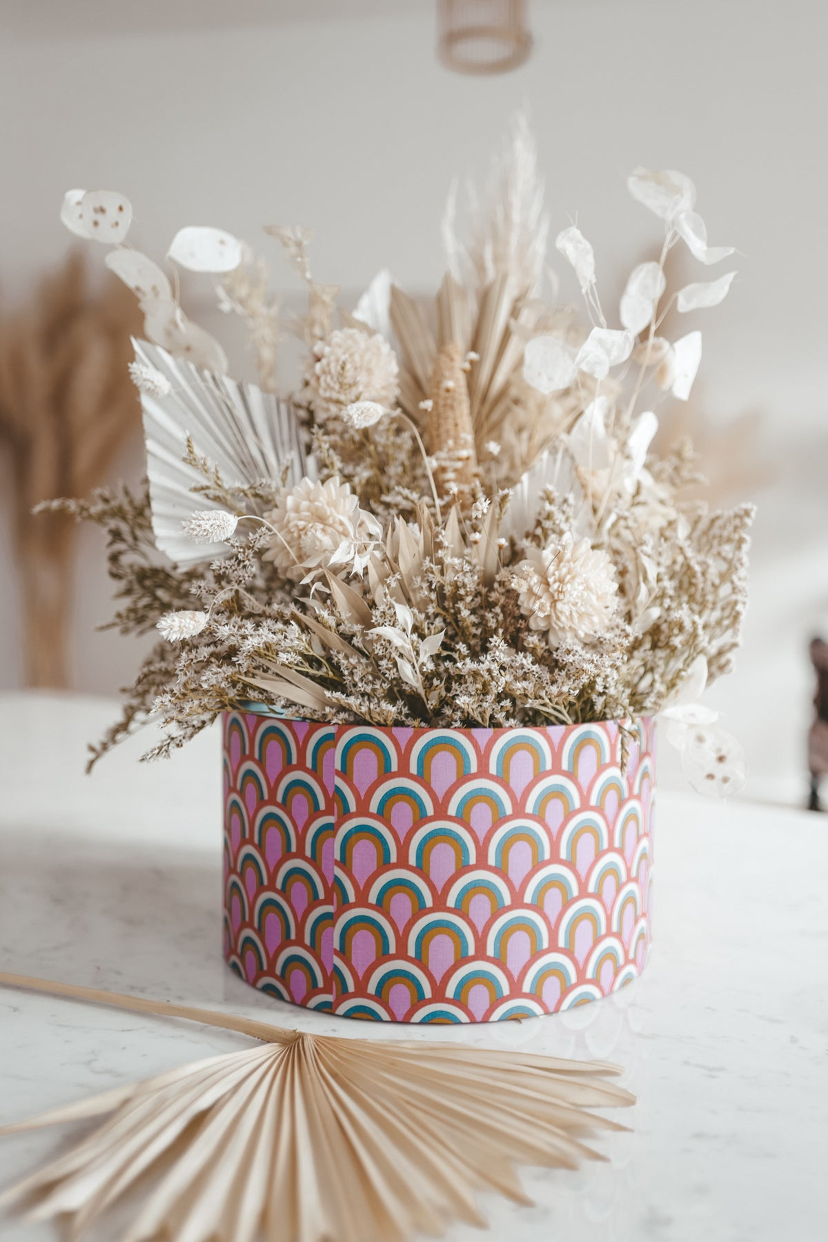 Dried Flower Box White Queen