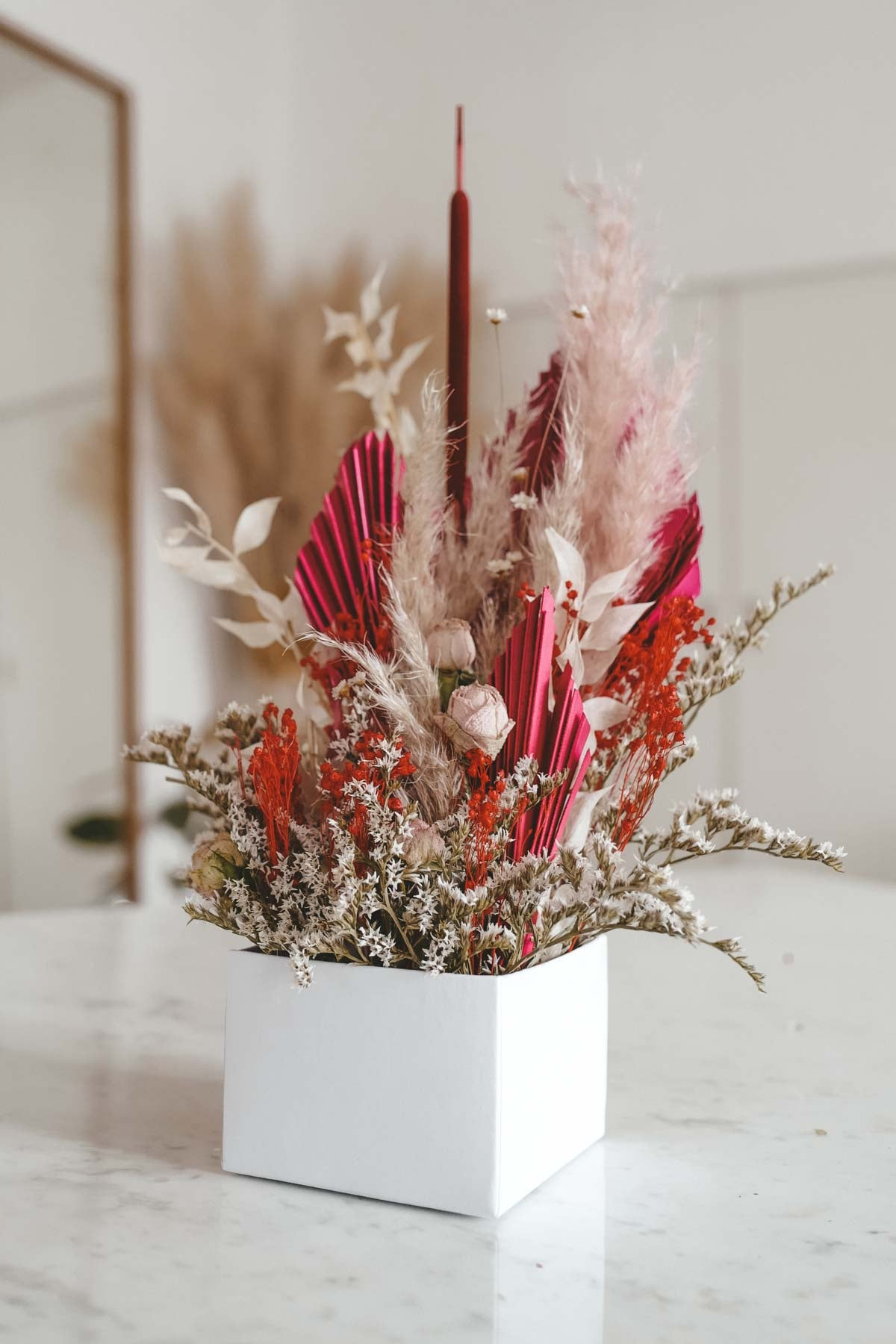 Red Lady Dried Flower Box