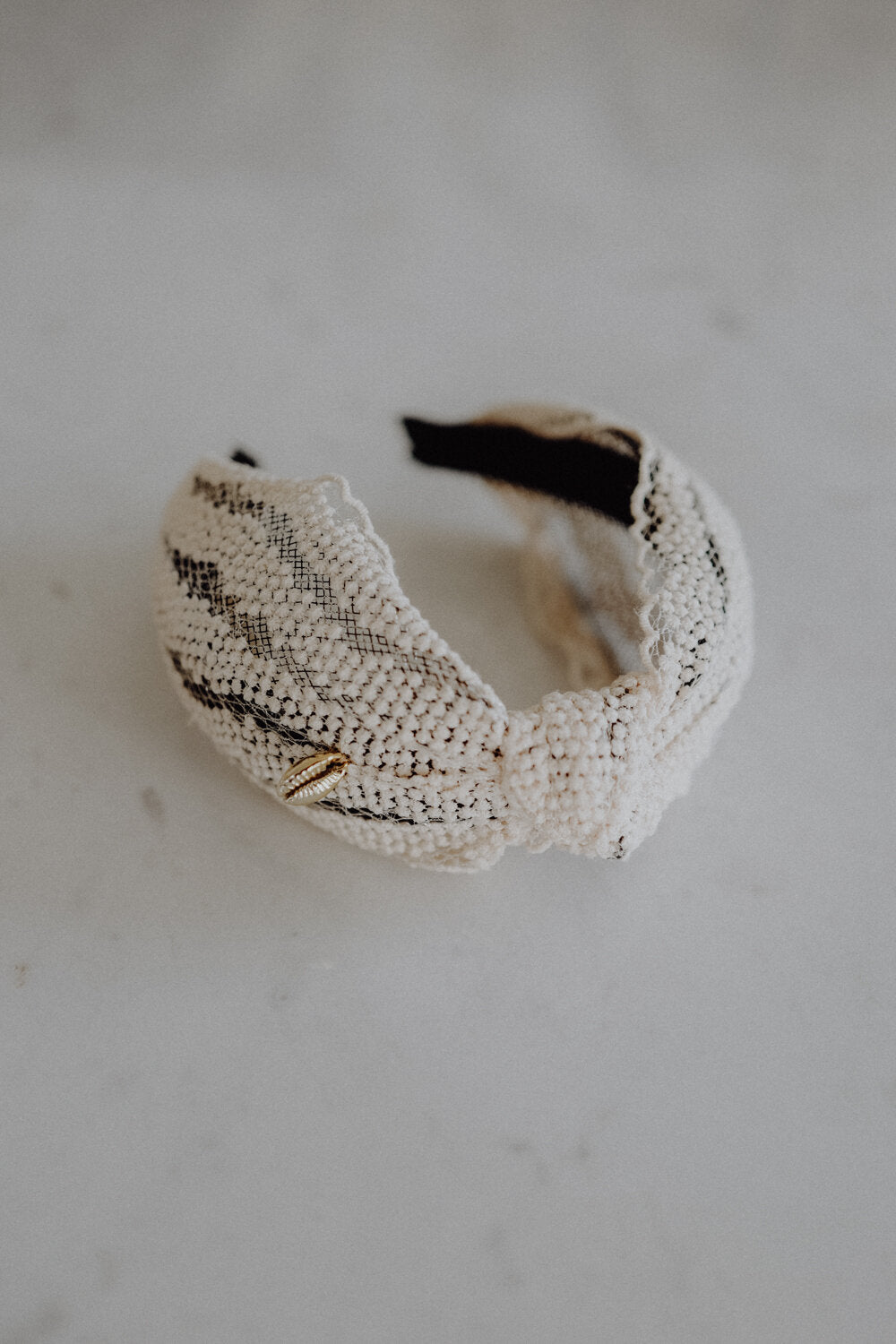 Headband White Lace