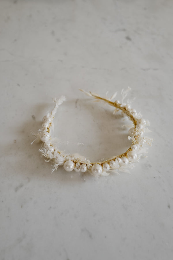 Clarine Handmade Pearls Headpiece