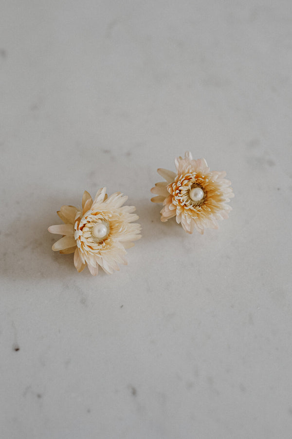 Diana Handmade Flower Earrings