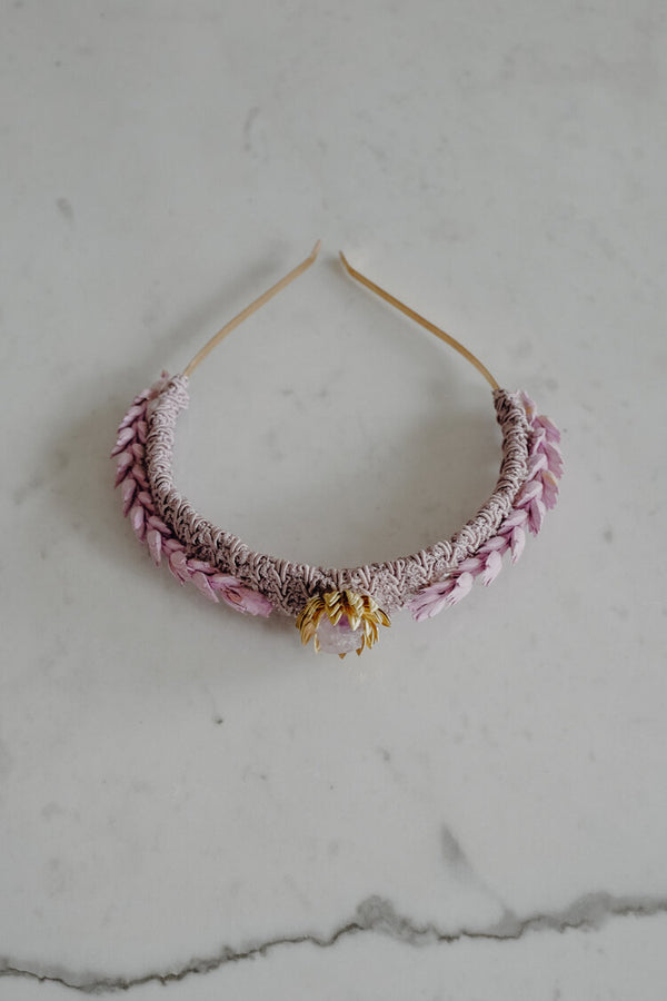 Violet Handmade Brocade Crown