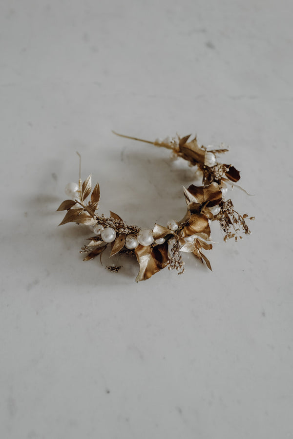 Golden Marie Handmade Headpiece